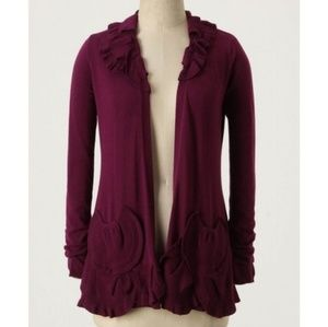 Anthro Guinevere Delicate Drafts Cardigan Purple